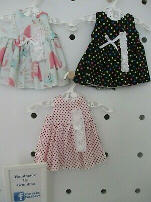 Dress & HB suitable for Baby Born, 3 Sets Black Elepant White SPECIAL FREE POST