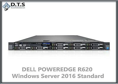 DELL POWEREDGE R620 10 bay- WINDOWS SERVER 2016 STANDARD - $1,095 00