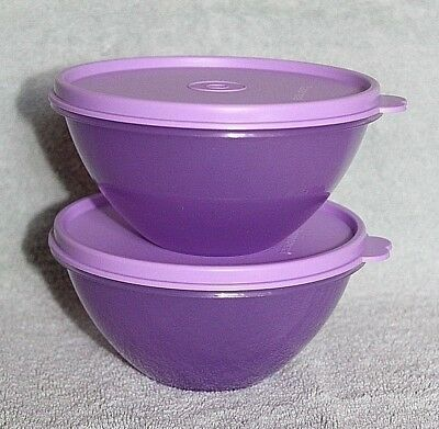 Tupperware CLASSIC WONDERLIER BOWLS Lavender Purple ~Set of 2~ 2 Cup ~BRAND NEW!