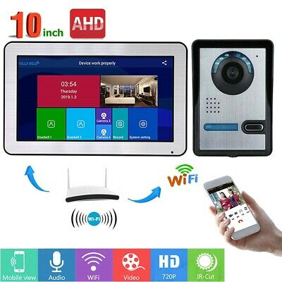 """10"""" Wired Wifi Video Door Phone Doorbell Intercom Entry System 720P Wired Camera"""