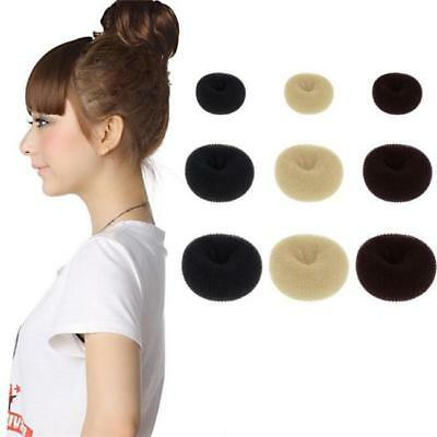 1xHair Bun Donut Ring Roll Sponge Former Shaper Hair DIY Styler Maker Tool RH
