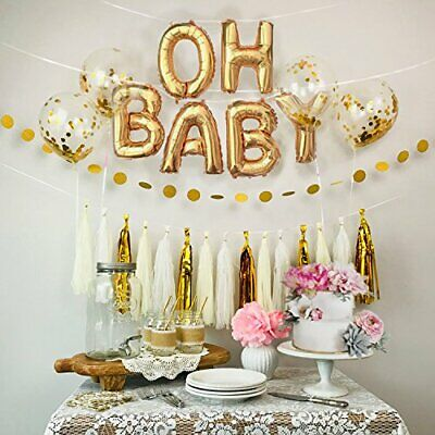 40 cm OH BABY Gold foil balloons for Baby Shower birthday party decor AUS