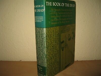 The Book Of The Dead (Egyptian Book Dead) Wallis Budge Hardback With Dj 1977