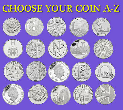 10p Alphabet A-Z  2018 Ten Pence Coins Fish and Chips, Postbox,Robin,Tea,CRICKET