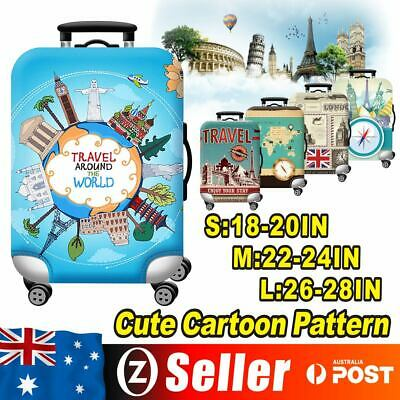 18-28'' Elastic Luggage Trolley Case Cover Suitcase Protector Case Bag Travel