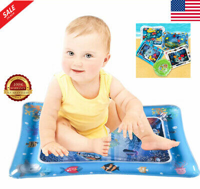 Inflatable Water Mat For Baby Novelty Play for Kids Children Infants Tummy Time