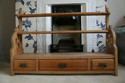 Antique Victorian Pine Shelf unit with drawers