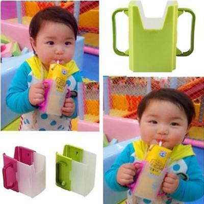 Baby Toddler Child Self-Helper Milk Juice Water Drinking Container Cup Holder RE