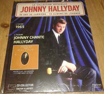 Neuf Scelle Johnny Hallyday Livre Et Cd L Annee 1965 Johnny Chante Hallyday