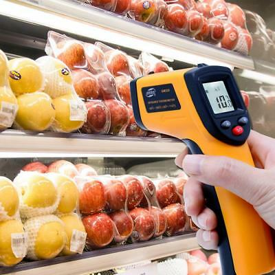GM320 Non-Contact LCD IR Laser Infrared Digital Temperature Thermometer Gun CA