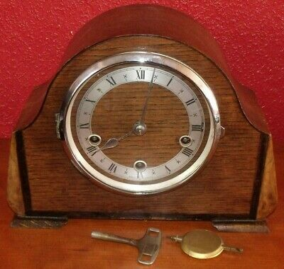 Vintage Smiths Enfield Westminster Clock Working Order