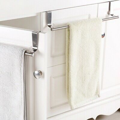 Towel Rack Bar Stainless Hang Holder Over The Kitchen Bathroom Cabinet Cupboard