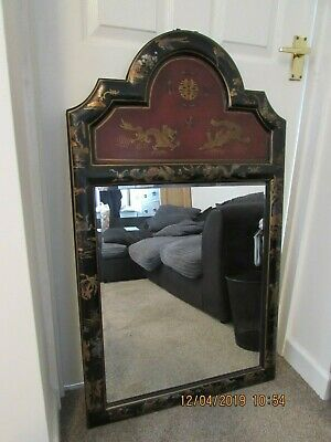 Chinoiseries wall mirror 61cm x 103cm heavy good quality reproduction