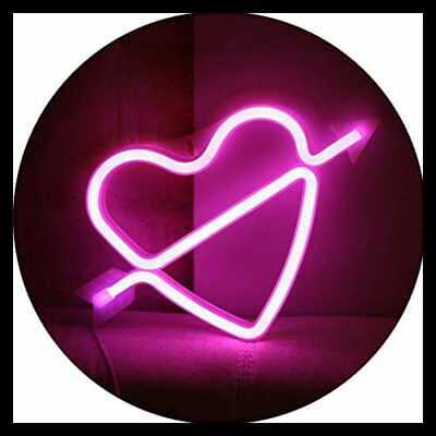 Neon Art Decorative Lights The Arrow Of Love LED Cupid Heart Signs Light Wall De