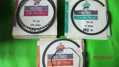 Hastings Pistons Rings 592 Std Ford 1966 240 6 Cyls