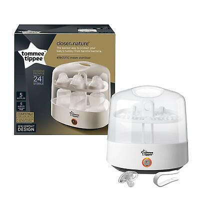 Nature Electric Steam Steriliser Closer to Nature Baby child Feeding Whit NEW