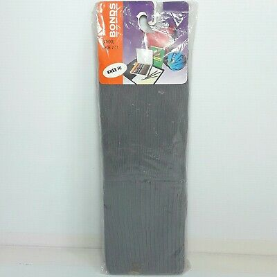 Bonds School socks Size 7 - 11 Knee hi Grey Vintage