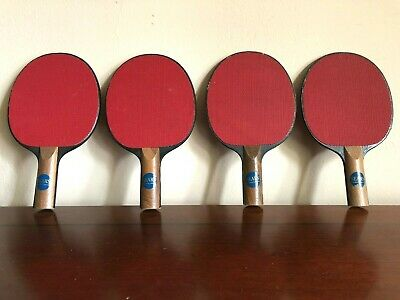 Phenomenal Rare Set Of 4 Sears Vintage Ping Pong Paddles Great Condition Table Tennis Wood Home Remodeling Inspirations Propsscottssportslandcom