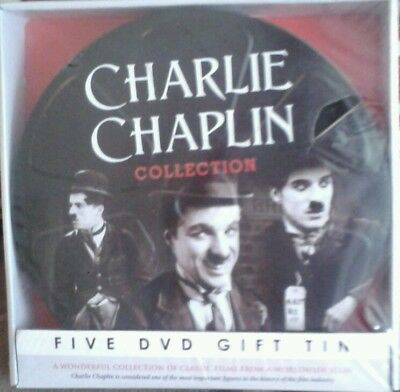 Charlie Chaplin Collection 5 Dvd Gift Tin **New&Sealed**