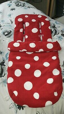 Mothercare Baby/toddler Red & White Spot Cosy Toes/pram Buggy Footmuff