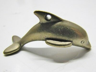 50pc Raw Brass Nautical Jumping Dolphin Ring Charm 4272