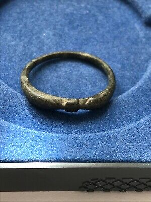 Medieval period bronze decorated finger ring 13th - 14th century AD