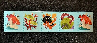 2019USA #5367-5370 35c Postcard Rate Coral Reefs - PNC Coil Strip of 5  #P11111