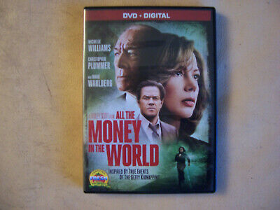 All the Money in the World (DVD, 2018, Digital HD) Mark Wahlberg