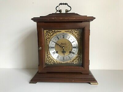VINTAGE 8 DAY METAMEC BRACKET CLOCK FHS STRIKE MOVEMENT 1980's