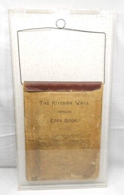 The Kitchen Wall Temperance Cook Book With Display Case 1888 Antique