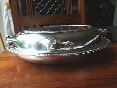 Antique Silver Plated Lidded Entree Dish. S J Levi & Co.