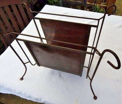 Arts & Crafts Unique Hand Crafted Copper & Wrought Iron Log Caddy Circa.1890