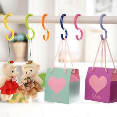 6pcs Stroller S-Type Fook Multi-Purpose Candy Color Kitchen Hook Hanger RH