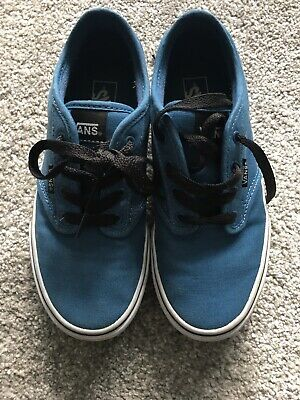 f885d2890a3703 Authentic Vans Blue Size 3 Boys Girls Womens Off The Wall