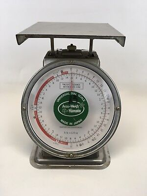 "Vintage 5 lb Accu-Weigh by Yamato Universal Dial Scale 10.5"" 5 LB x 1/2 Oz"