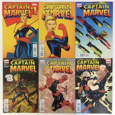 Captain Marvel #1 to #17 (no #8 or #15) 1st app Kamala Khan. 15 Hi grade issues.