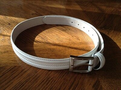 Boys' White Leather Belt - New - Ideal for Communion