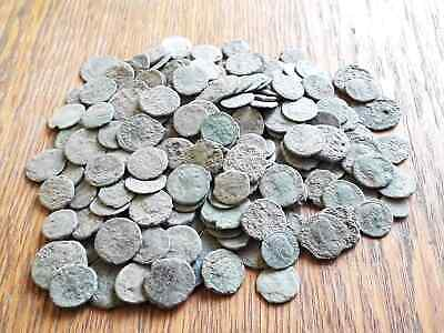 Beautiful Lot Of 200 Ancient Roman Bronze Coins For Cleaned Intact
