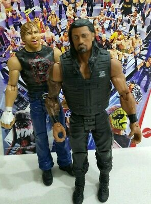 Wwe Mattel Series Roman Reigns And Dean Ambrose Wrestling Figure Set Of 2 Moxley