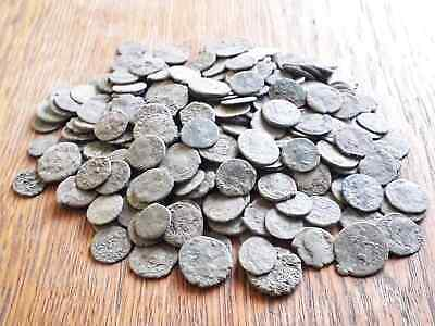 Beautiful Lot Of 250 Ancient Roman Bronze Coins For Cleaned Intact