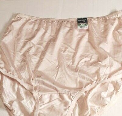 9bec332aab85 Vanity Fair Brief 100% Nylon Silky Perfectly Yours Fawn Beige Panties Size  XL
