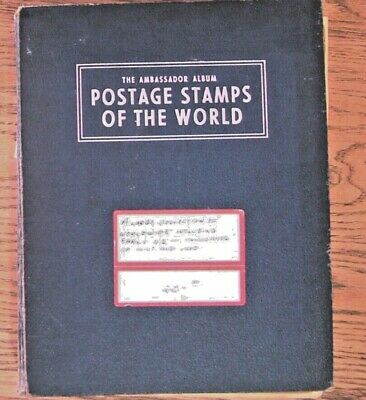 Ambassador Stamp Album with Worldwide & early US Postage, Unchecked /researched