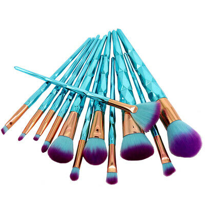 12pcs Pro Unicorn Makeup Brushes Set Foundation Blush Powder Eyeshadow Brush Kit