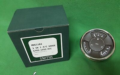 Morgan 3 In 1 Smiths Oil Fuel Water Gauge New Genuine Mde1183