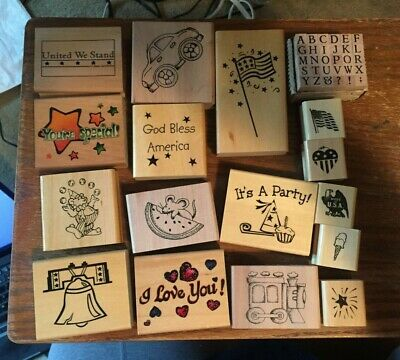 Rubber Stamp Craft Lot of 17 Random All New Never Used