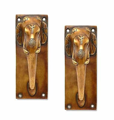 A pair of Amazing Brass made ELEPHANT designed DOOR HANDLES from INDIA.