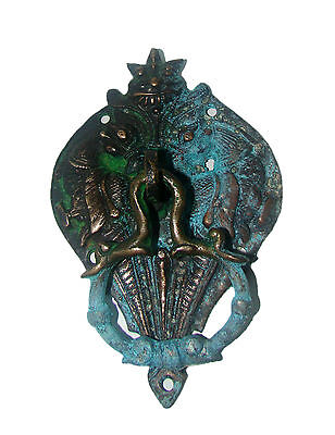 A Vintage & beautiful brass made Two PARROTS designed DOOR KNOCKER from INDIA