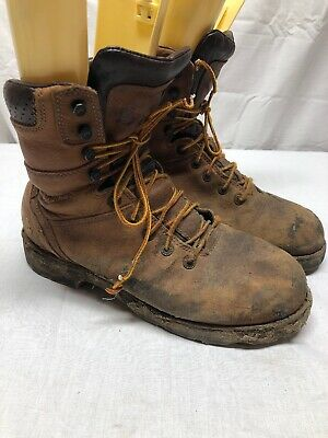 a3d484832bc DANNER WORKMAN GTX Work Boot Distressed Brown Leather Men's Size 9.5 Used  Cond.