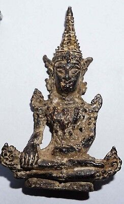 An Old Vintage Miniature Lucky Charm rare Thai Buddha Amulet from Thailand