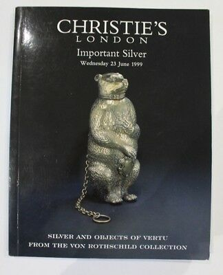 Christies Important Silver & Objects of Vertu  von Rothschild Collection 1999